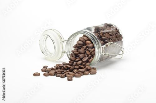 Deurstickers Koffiebonen Café en grano