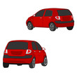 city car vector drawing illustration