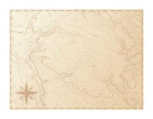 Stara karta izolirana na bijeloj pozadini, kompasu, vektorskoj ilustraciji