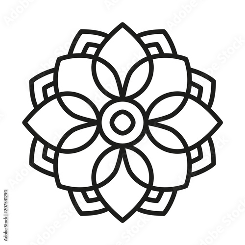 simple flower mandala outline