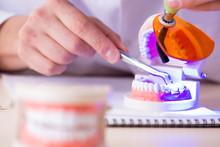 Dentist Working Teeth Implant ...