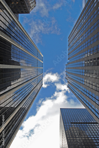 New York Towers low angle view