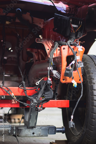 Fototapety, obrazy: Close up shot of car engine