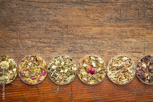 Fotografering  herbal tea sampler collection