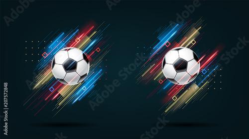 Fotografía  Football cup, soccer championship illustration set