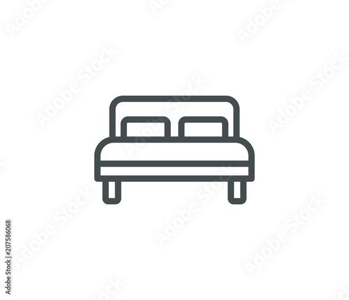 Cuadros en Lienzo Bed line icon