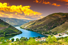 River Douro Region At Sunrise