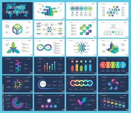 inforgraphic slide templates for business presentation can be used