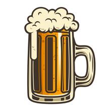 Beer Mug Illustration. Design ...