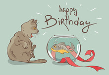 Birthday Card, Fish -- The Bes...