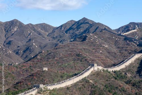 In de dag Chinese Muur 中国北京郊外に延びる万里の長城3