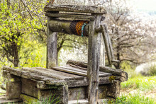 Old Abandoned Wooden Well With...