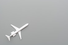 Toy Plane On Gray Background
