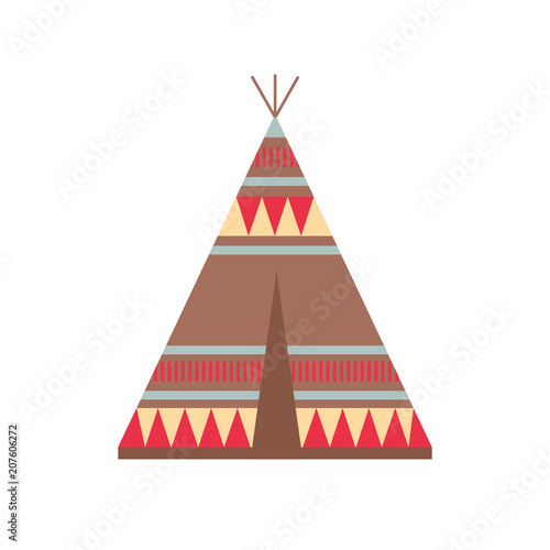 Photo Indian Wigwam with Ornamental Elements
