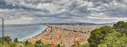 Deurstickers Nice Nice City Panorama France