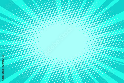Acrylic Prints Pop Art pop art turquoise background