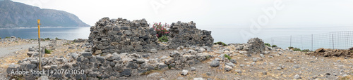 Poster Ruine Ruins on the coast