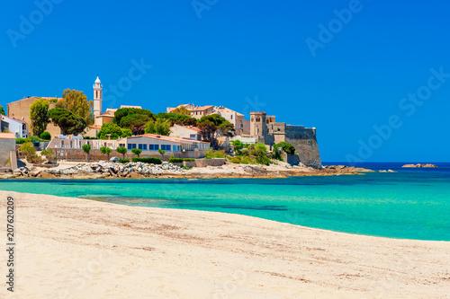 Beach and Coastline of Algajola, Corsica, France