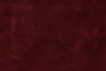 Texture Background From Burgundy Leather Suede. Seamless