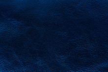 Glossy Deep Blue Leather Texture Background Of Small Grain
