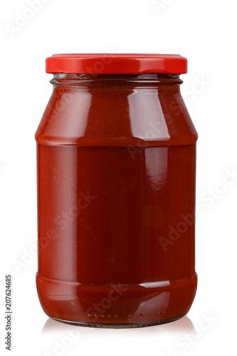 Photo tomato paste in a jar