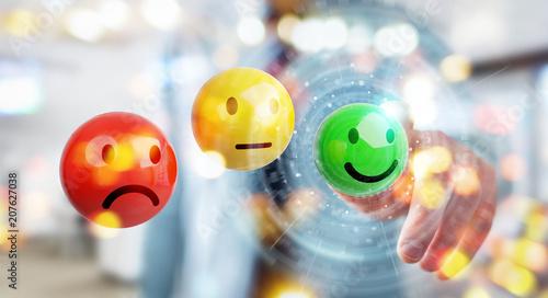 Businessman using customer satisfaction rating 3D rendering Fototapete