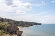 General beaches in the Crimea. The coastline of the numerous bays.