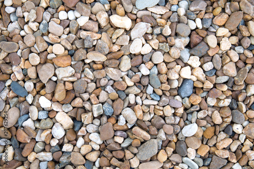 Fototapeta Small stones gravel texture background,decoration in the gardening