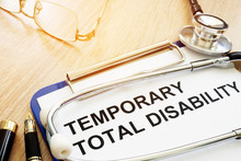 Diagnosis Temporary Total Disability (TTD) And Stethoscope.