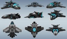 Futuristic Spacecraft Collecti...