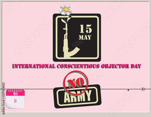Fotografie, Obraz  Post Card International Conscientious Objector Day