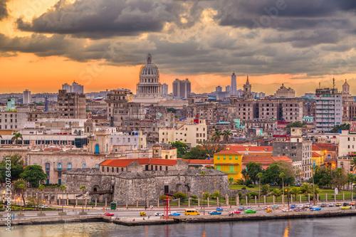 Keuken foto achterwand Havana Havana, Cuba Skyline