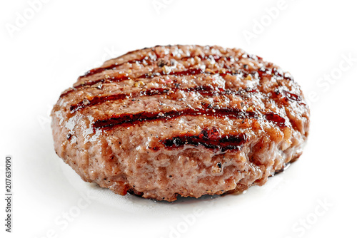 freshly grilled burger meat