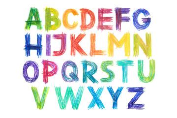 Colored pencils alphabet fo...