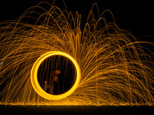 Steel Wool Light Painting As A...