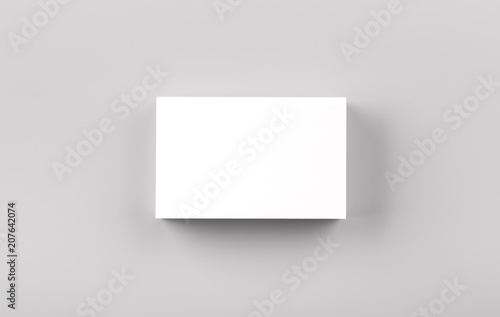 Photo Stands Dark grey Business cards mock up