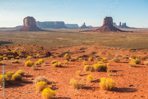 Poster Oranje eclat Amazing landscape in Monument Valley
