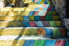 Different Colors Rainbow Stair...