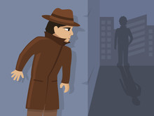Detective Is On The Case, Vector Illustration