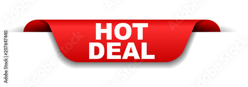 Valokuvatapetti red banner hot deal