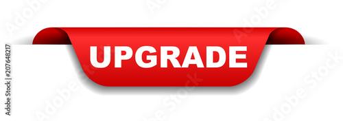 Fotografía  red banner upgrade