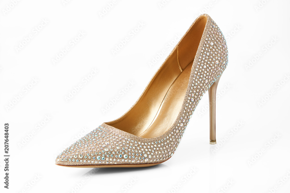 Fototapety, obrazy: Luxury high heels isolated on a white background and with clipping path for design.