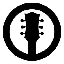 Guitar Headstock Black Rubber ...