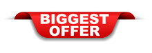 Red Banner Biggest Offer