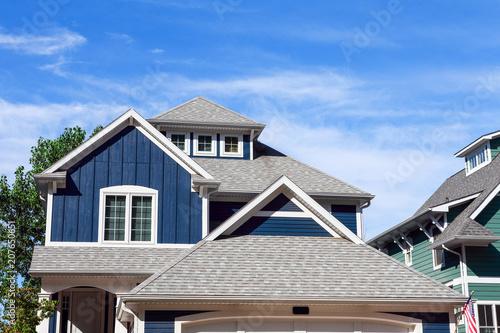 Obraz na plátně Close up row of beach houses