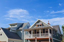 Close Up Row Of Beach Houses
