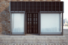 Modern Storefront With Empty B...