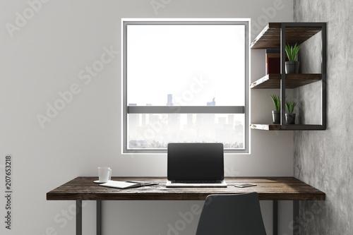 Papiers peints Individuel Interior with clean laptop