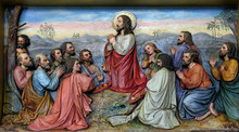 Jesus And Apostles In The Mount Of Olives, Church Of Saint Matthew In Stitar, Croatia