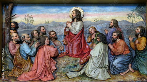 Fotografie, Obraz  Jesus and Apostles in the Mount of Olives, church of Saint Matthew in Stitar, Cr